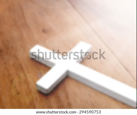 Cross blured for background