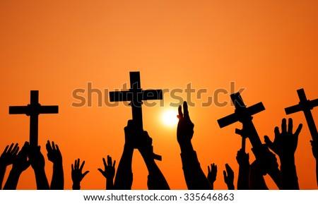 Cross Catholicism Determination Spiritually Crucifix Concept