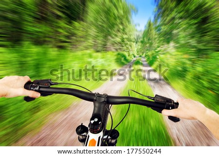 cross country biking - stock photo