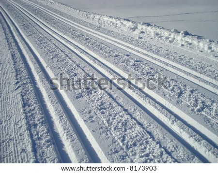 cross country tracks - stock photo