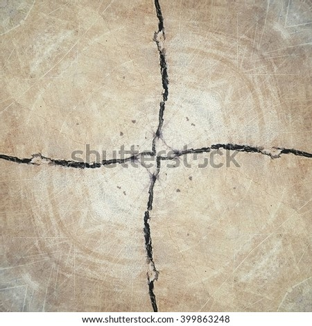 cross crack concrete texture background