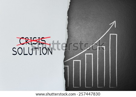 Cross crisis and find solution, Concept of Success - stock photo
