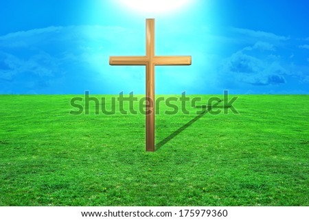 Cross - 3d rendered illustration - stock photo