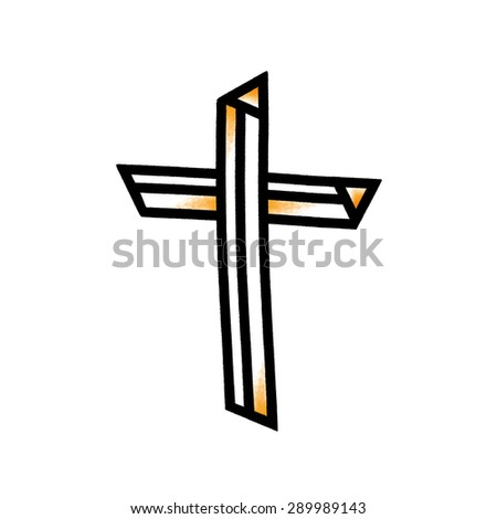 Cross illustration; Christian cross symbol