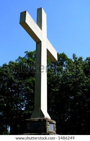 Cross in the sky - stock photo