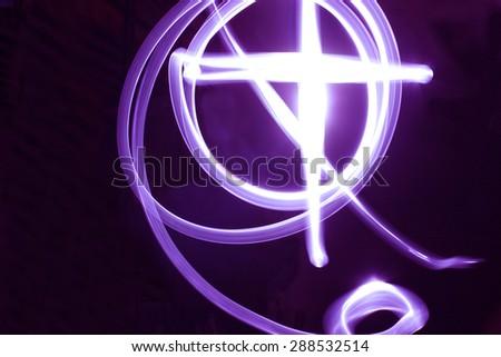 cross of light - stock photo