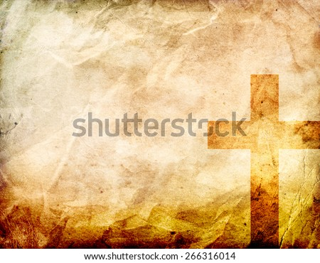 Cross on a grunge Background - stock photo