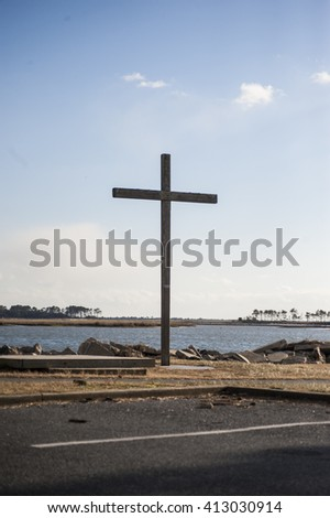Cross on Chincoteague Island