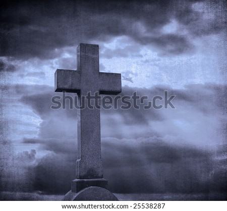 cross over grunge background - stock photo