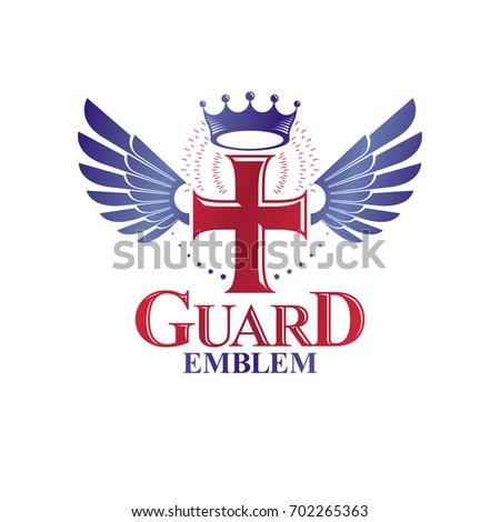 Cross Religious Graphic Emblem Created Using Stock Illustration