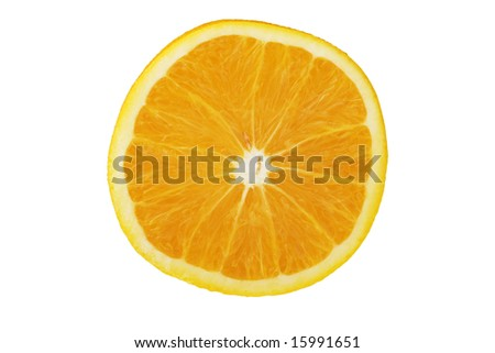 Cross section of a fresh orange
