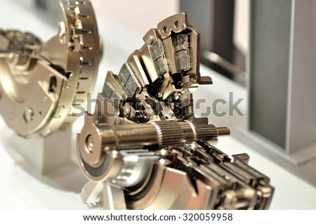 Cross section of car clutch. - stock photo