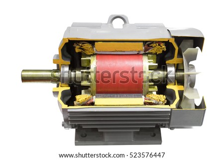 Electric motor stock images royalty free images vectors for Industrial electric motor repair