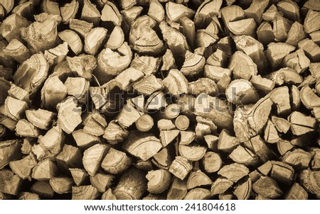 Cross section of the timber for the background.vintage tone - stock photo