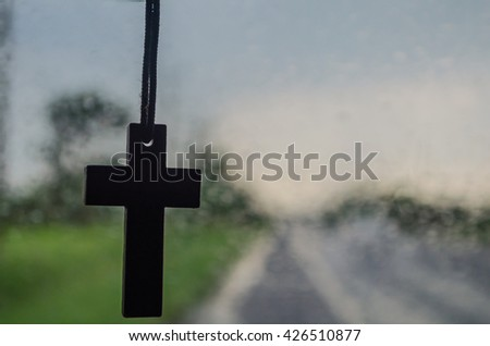 Cross the car in the wet season