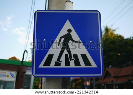 cross the street sign - stock photo