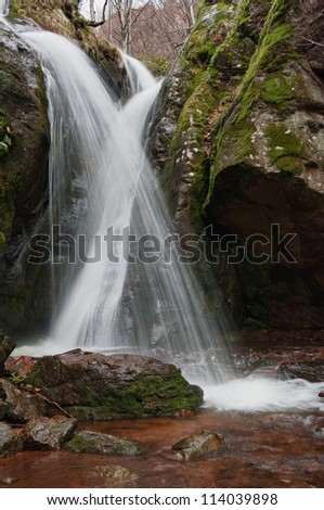 cross waterfall - stock photo