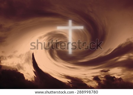 Cross-white abstract background - stock photo