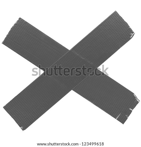 crossed duct tape - stock photo
