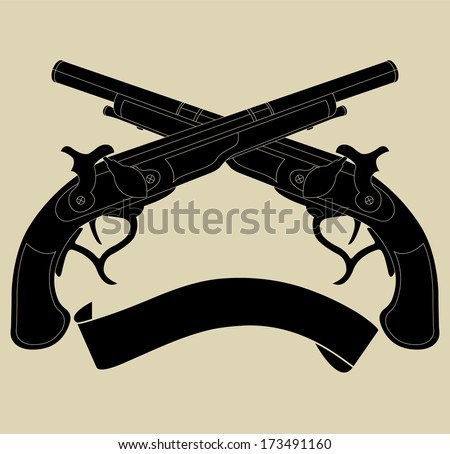 Crossed Pistols Stock Photos, Images, - 36.1KB