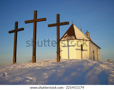 crosses in front of the Salmendinger chapel