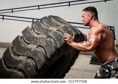 Crossfit training - stock photo