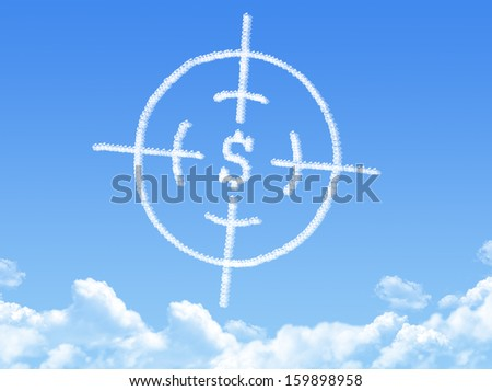 Crosshair cloud shape - stock photo