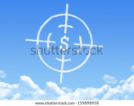 Crosshair cloud shape - stock photo