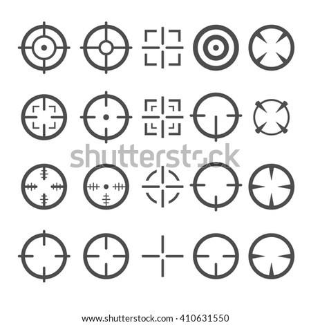 Crosshair Icon Set. Target Mouse Cursor Pointers.