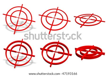Crosshair symbol collection - stock photo