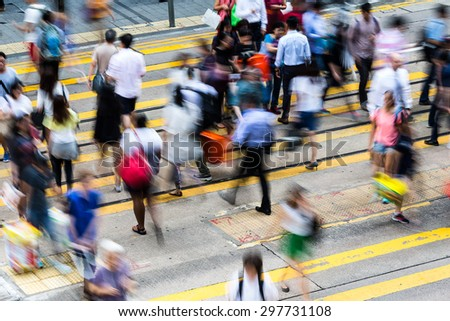 Crossing Busy Hong Kong Street