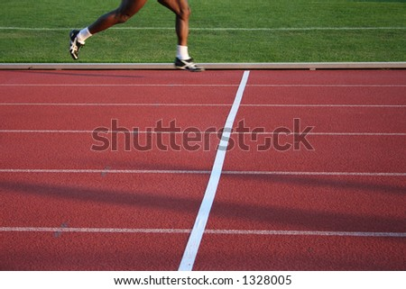 crossing finish line3 - stock photo