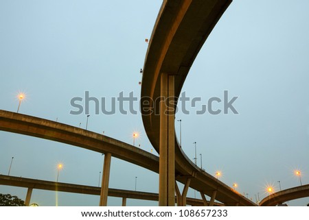 crossing highway overhead