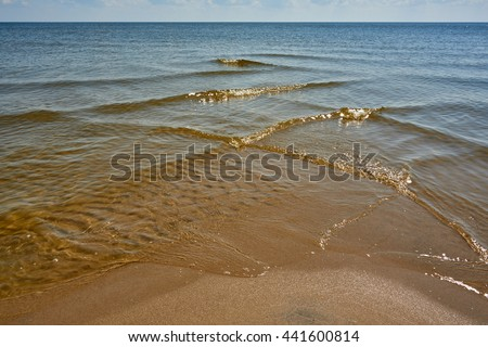 Crossing waves - stock photo