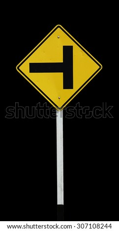 crossroad sign - stock photo