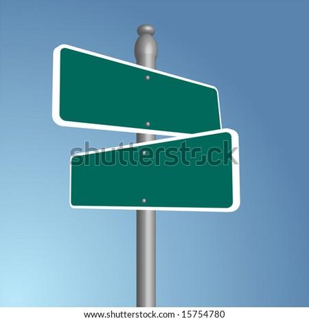 Crossroads Blank Illustration - stock photo