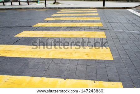 Crosswalk line - stock photo