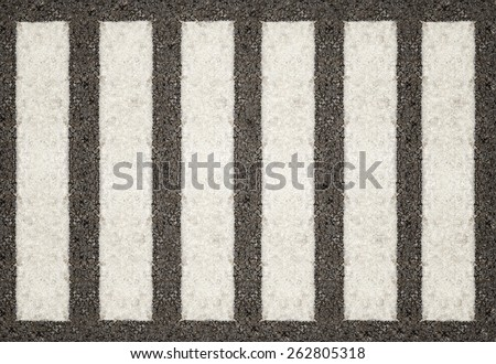 Crosswalk surface background,top view - stock photo