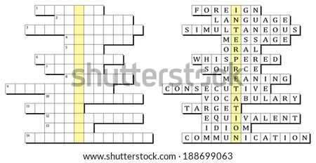Crossword for the word Interpretation and related words
