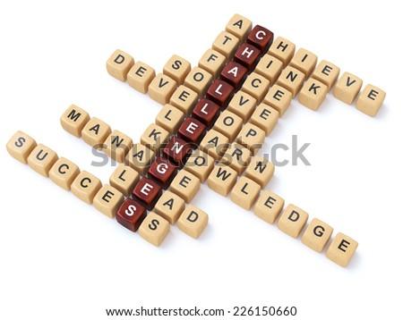 crossword puzzle - stock photo