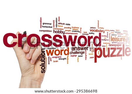 Crossword puzzle word cloud concept - stock photo