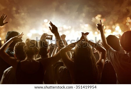 Crowd at a festival - stock photo
