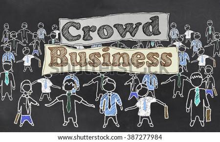 Crowd Business Illustration - stock photo