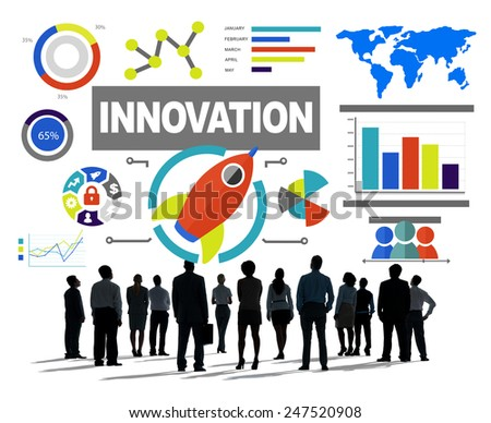 Crowd Business People Creativity Growth Success Innovation Concept - stock photo