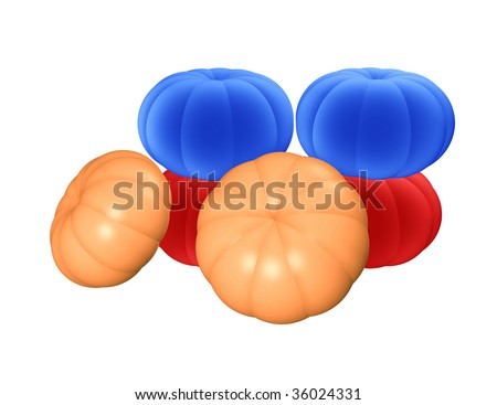 crowd of cushaws - stock photo