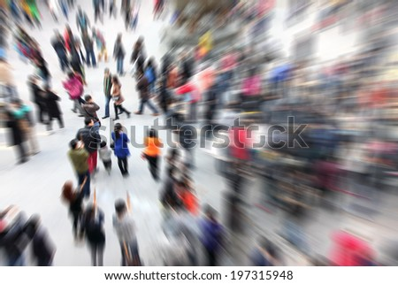 Crowd People - stock photo
