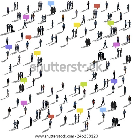 Crowd People Communication Concept