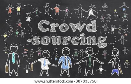 Crowd Sourcing Illustration - stock photo