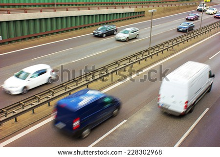 Crowded Freeway - stock photo