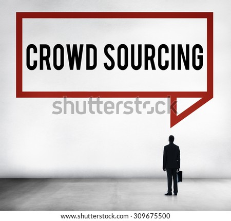 Crowdsourcing Collaboration Group Online Community Concept - stock photo